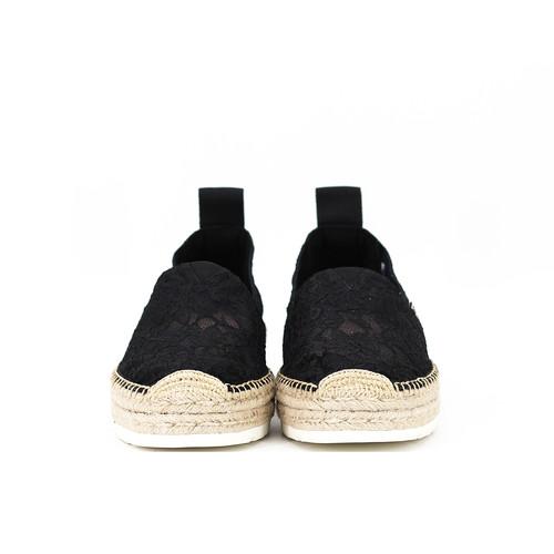 S/S 2020春夏 女士麻底休闲鞋 02028W 黑色