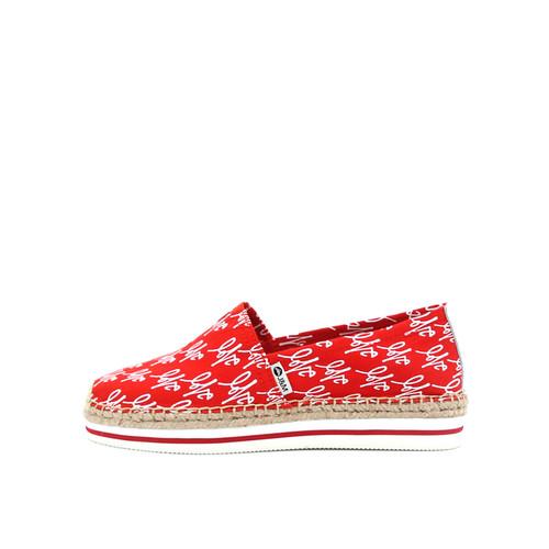 S/S 2019春夏 女士加州系列love涂鸦帆布休闲鞋 51312W 红色