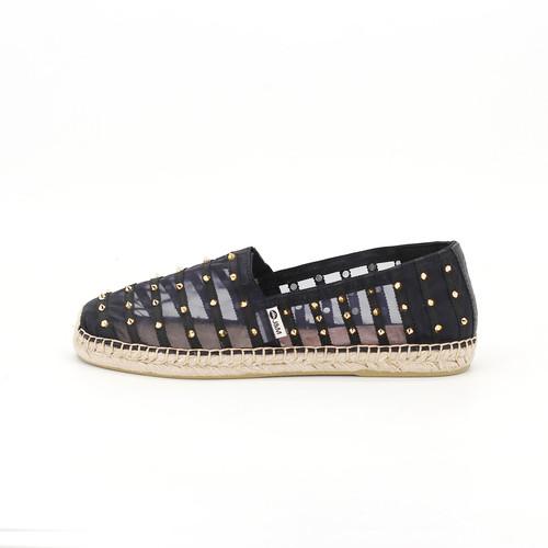 S/S 2020春夏 女士麻底休闲鞋 01803W 黑色