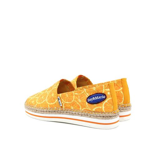 S/S 2019春夏 女士加州系列水果涂鸦休闲鞋 51315W 橙色
