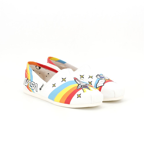 S/S 2020春夏 女士NASA联名款休闲鞋 62171W 白色