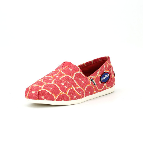 S/S 2020春夏 女士加州系列水果涂鸦休闲鞋 62182W 浅红色