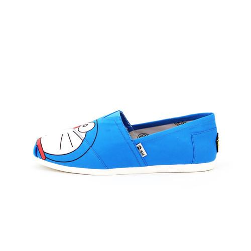 S/S 2020春夏 女士哆啦A梦联名款帆布休闲鞋 62165W 蓝色