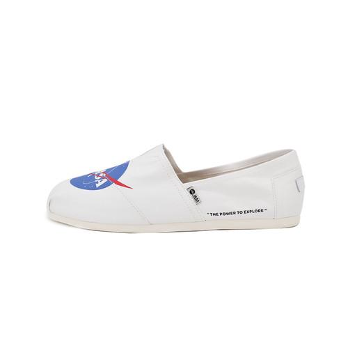 S/S 2020春夏 女士NASA联名款帆布休闲鞋 62200W 白色