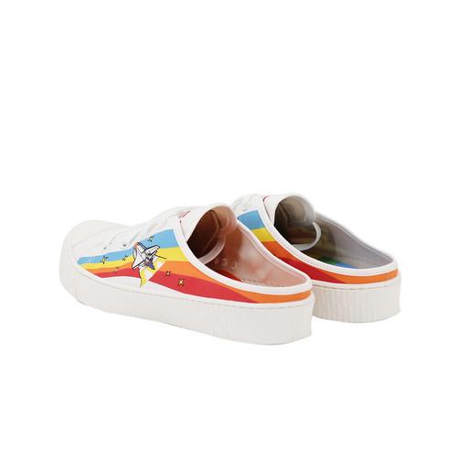 S/S 2020春夏 女士NASA联名款帆布休闲鞋 65055W 橘色
