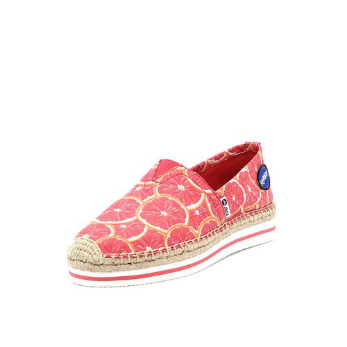 S/S 2019春夏 女士加州系列水果涂鸦休闲鞋 51315W 浅红色