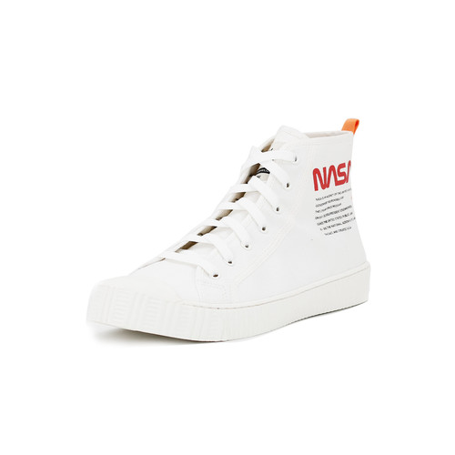 S/S 2020春夏 女士NASA联名款帆布休闲鞋 65050W 白色