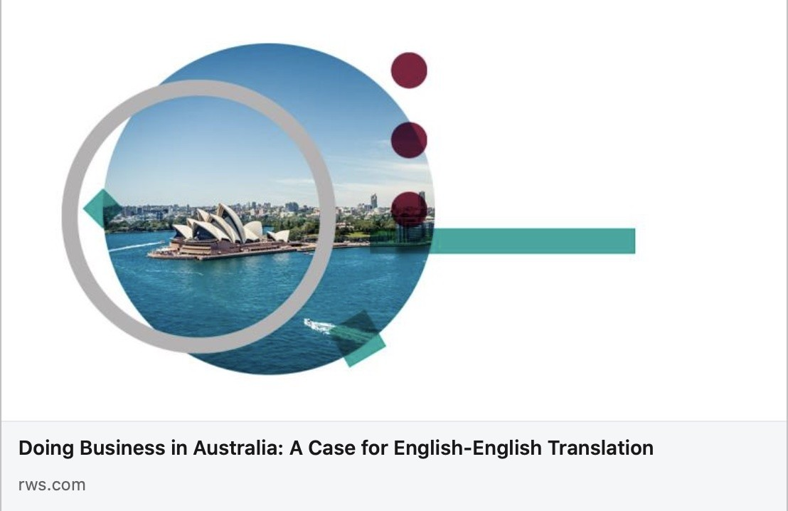 Doing Business in Australia: A Case for English-English Translation