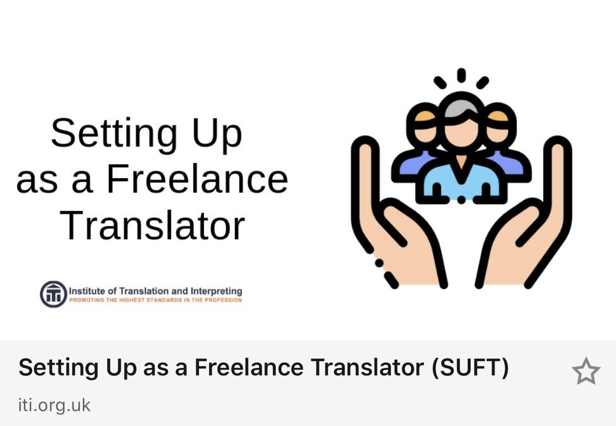 Setting Up as a Freelance Translator (SUFT)