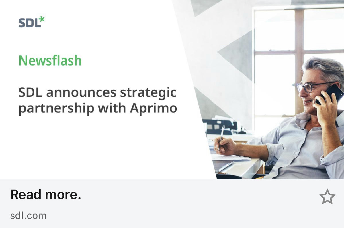 SDL Announces Strategic Partnership with Aprimo