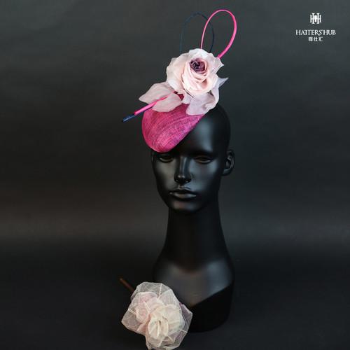 帽仕汇高级头饰--粉玫11180306021