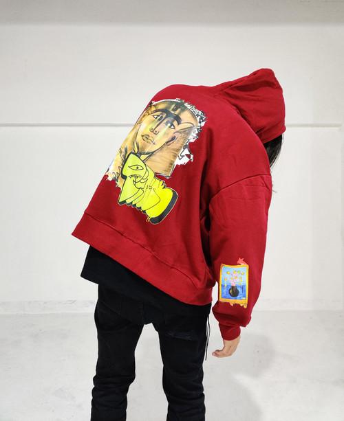"inner alchemy basement ""LOST"" RED hoodie"