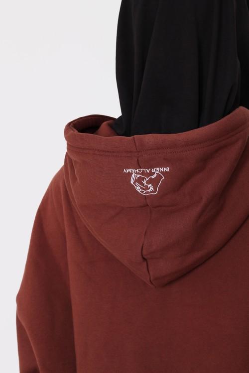 inner alchemy diamond logo brown hoodie