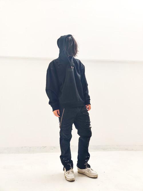 inner alchemy G box logo hoodie-black