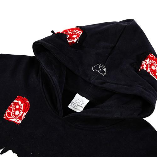 inner alchemy red Paisley hoodie