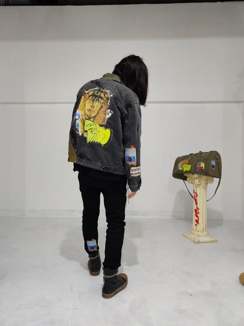 inner alchemy basement mix Denim jacket