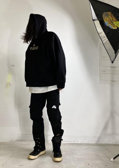 inner alchemy D remake  box logo hoodie black