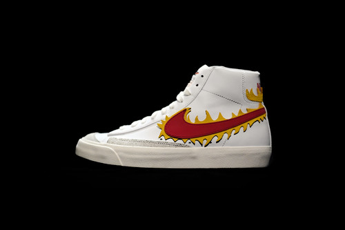 Nike Blazar swoosh on fire