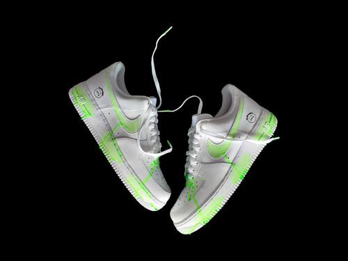inneralchemy AF1Travis Scott Fluorescent Green