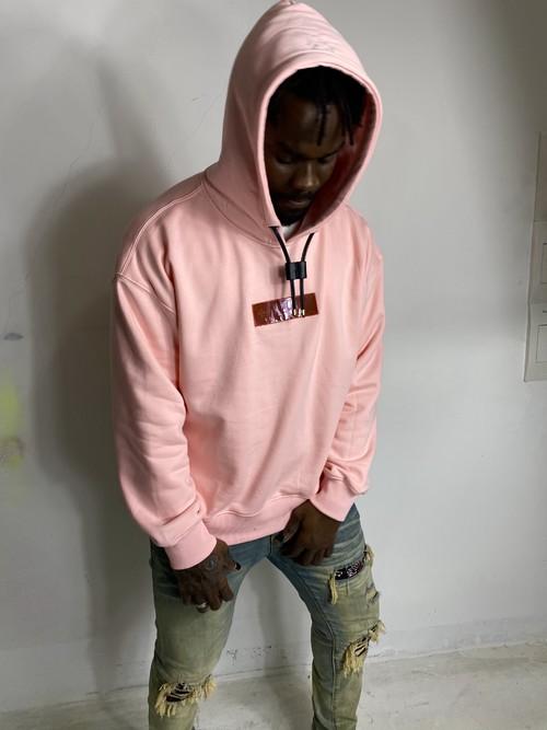inner alchemy  remake box logo hoodie Pink