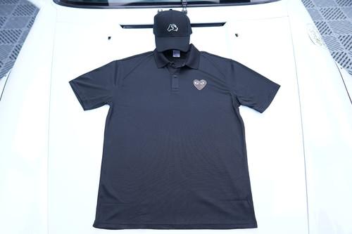 inneralchemy remake box logo Polo shirt-black