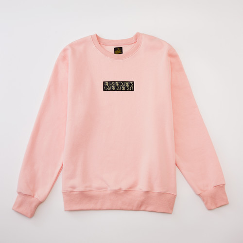 inneralchemy remake box logo pink sweater