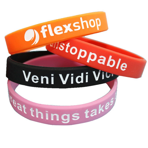 embossed debossed printing letters custom silicone bracelet wristband sports personalized