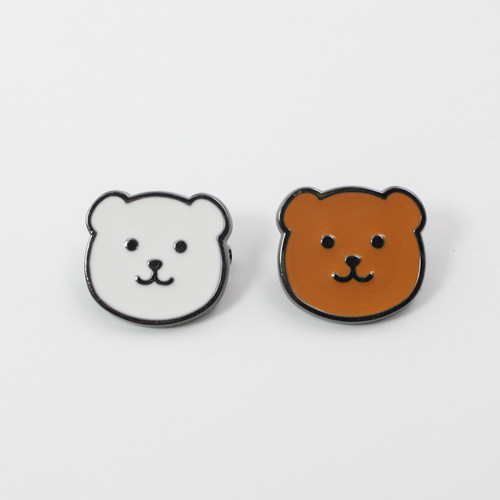 oem sgs approved bear metal promotional soft enamel wholesale keychain pins metal custom logo lapel