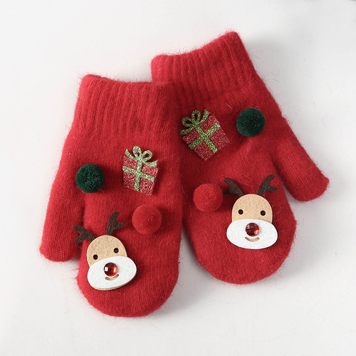 Christmas Gifts Deer Gloves Cute Winter Korean Kids Warm Fingers Gloves
