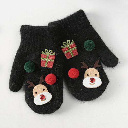 Christmas Gifts Deer Gloves Cute Winter Korean Kids Warm Fingers Gloves