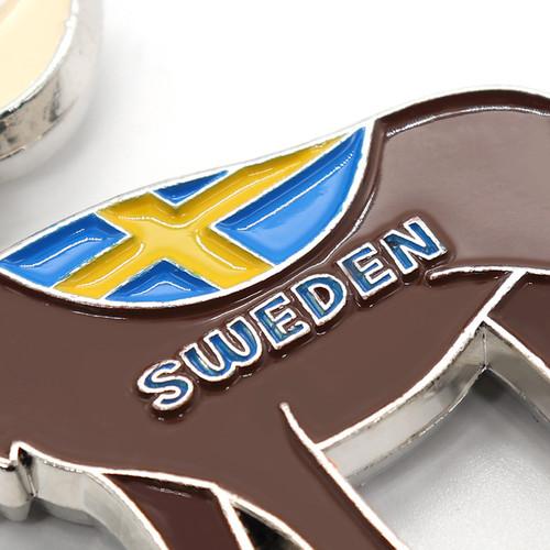 oem sgs approved promotional custom enamel deer cartoon round wholesale keychain personalised keyrin