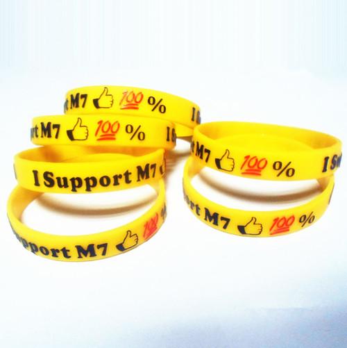 embossed debossed logo silicone bracelet wristband for men printing custom