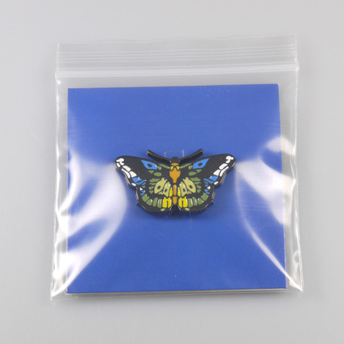 oem sgs approved metal butterfly promotional soft enamel wholesale keychain pins metal custom logo l