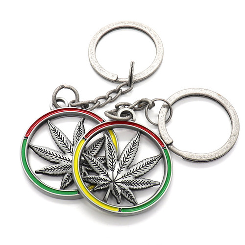 oem store items sgs approved promotional custom enamel maple round wholesale keychain personalised k