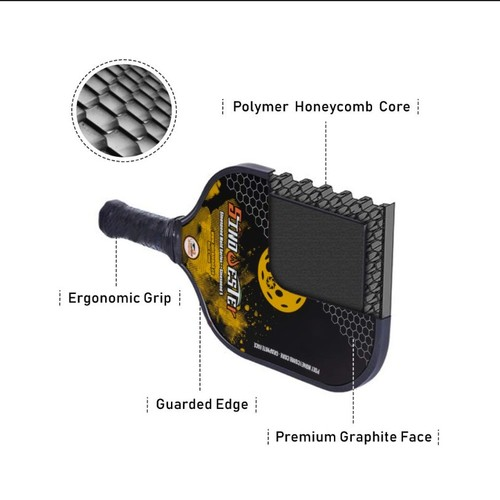 Sinowester Pickleball Paddle|SinoSpeed Rim Carbon Paddle| Polymer HoneyComb Core|USAPA Approval