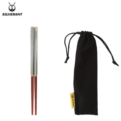 钛红木折叠筷子