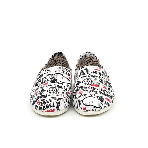 S/S 2020春夏 女士史努比联名款布鞋 62220W 白色