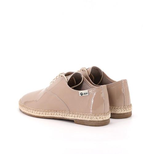 S/S 2020秋冬 女士齐踝漆皮⿇底短靴 GY001W 杏色