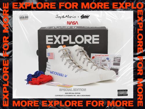 Joy&Mario x NASA x S.View Special Edition 三方特别合作款帆布鞋