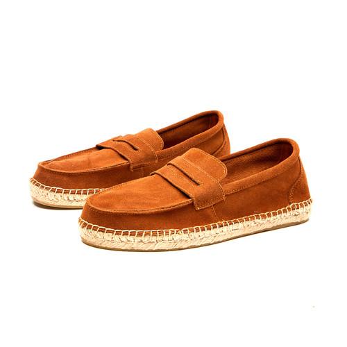 S/S 2020春夏 Selection系列反绒皮绅士麻底鞋  01775M 棕色