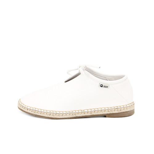 S/S 2020秋冬 女士齐踝⽪⾰⿇底短靴 GY002W 白色