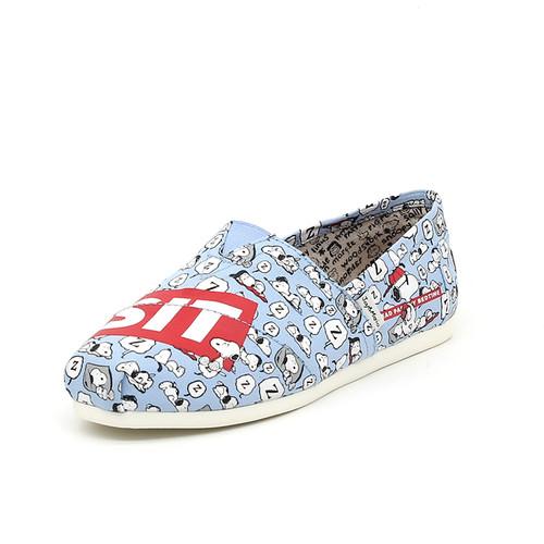 S/S 2020春夏 女士史努比联名款布鞋 62218W 蓝色