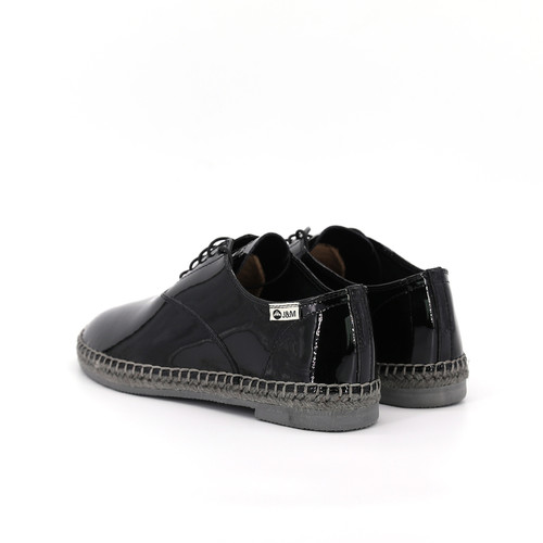 S/S 2020秋冬 女士齐踝漆皮⿇底短靴 GY001W 黑色