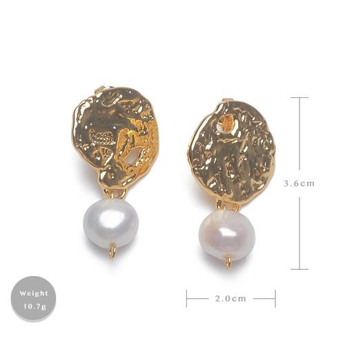 EH25504-C16复古气质天然珍珠耳环