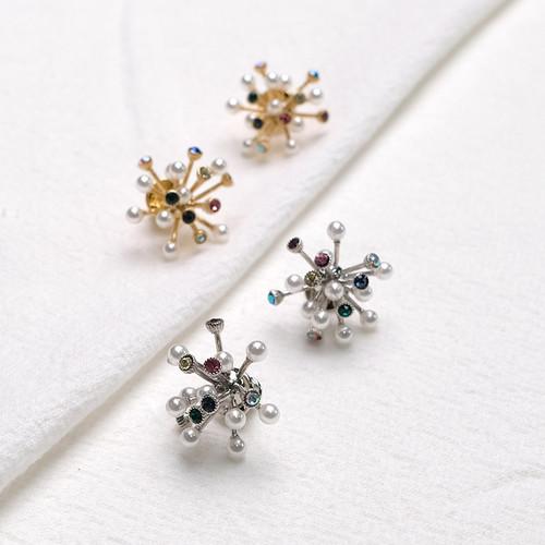 EH63316-E147彩钻珍珠烟花耳环