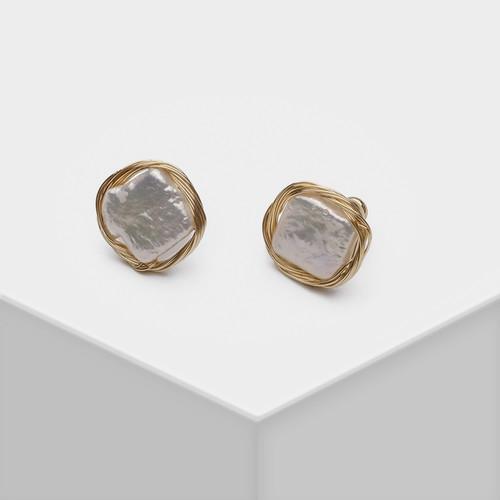 EH30426-气质天然珍珠小耳钉
