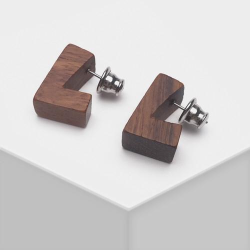 EH63354-E147三色木质耳环