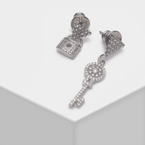 EH63133-E148精致锁头钥匙耳环