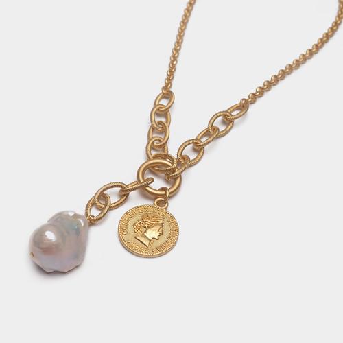 XL26564-3下6天然巴洛克珍珠项链