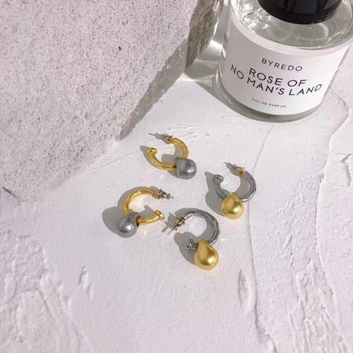 EH30267-B下2金属亚光吊坠水滴圈耳环